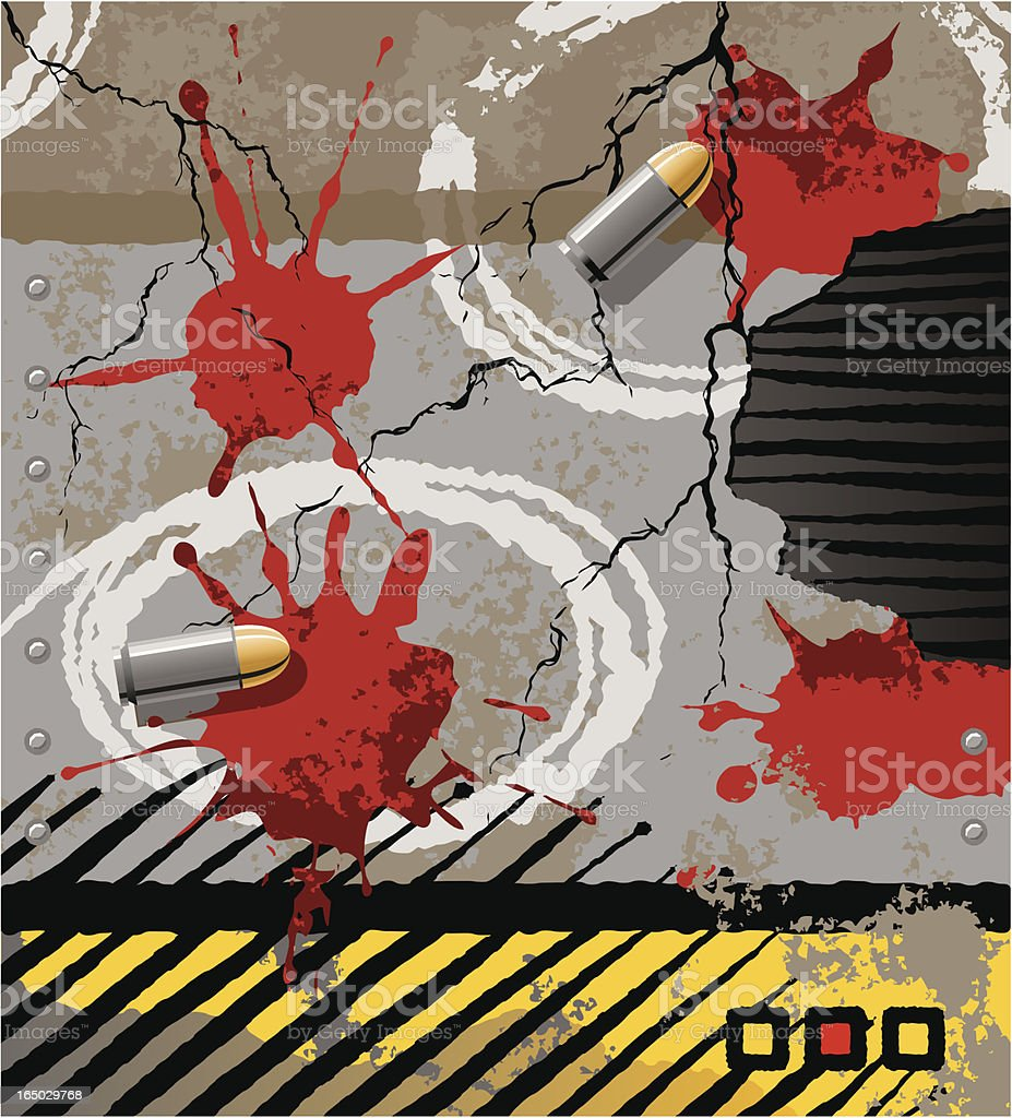 Crime Scene Elements royalty-free stock vector art