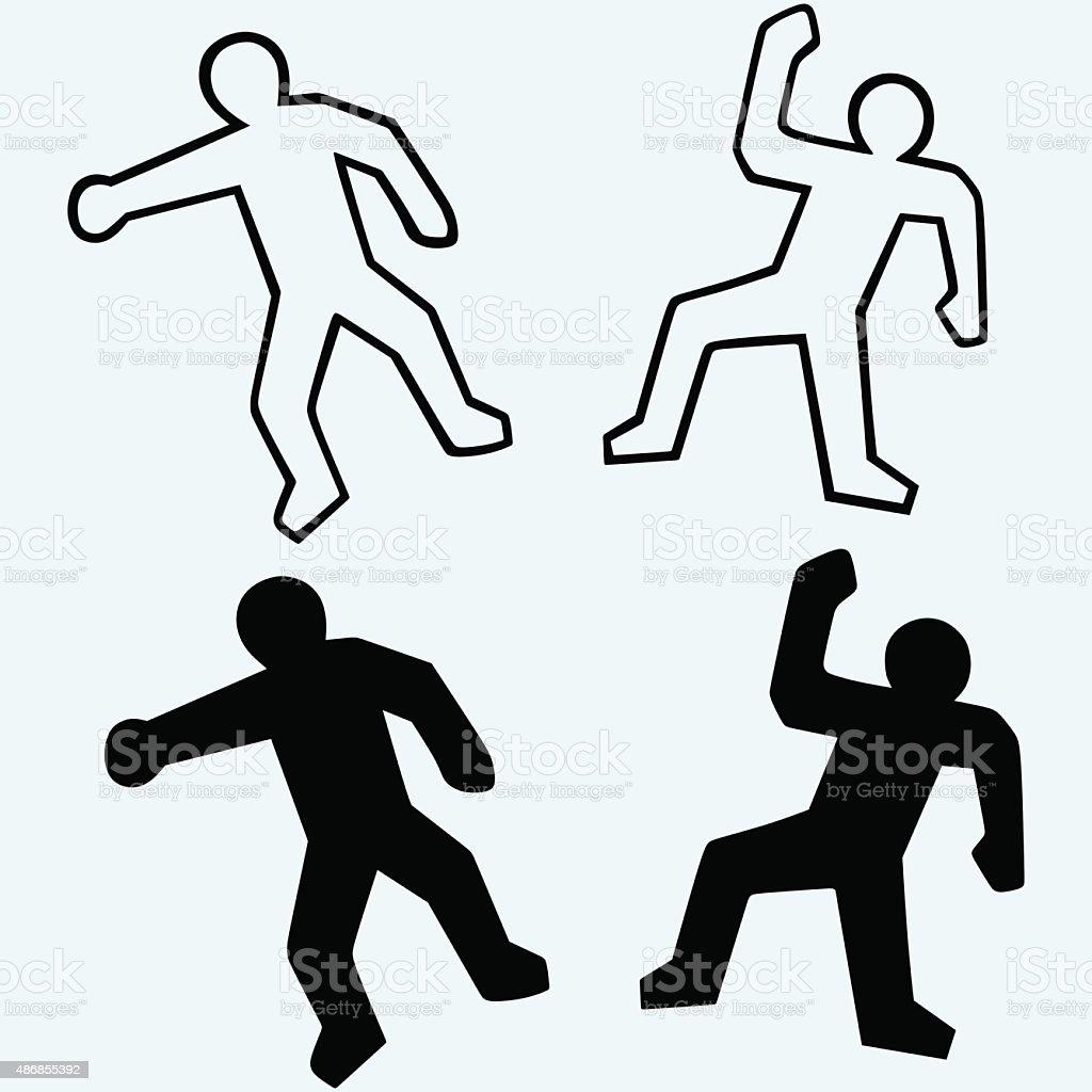 Crime scene illustration vector art illustration