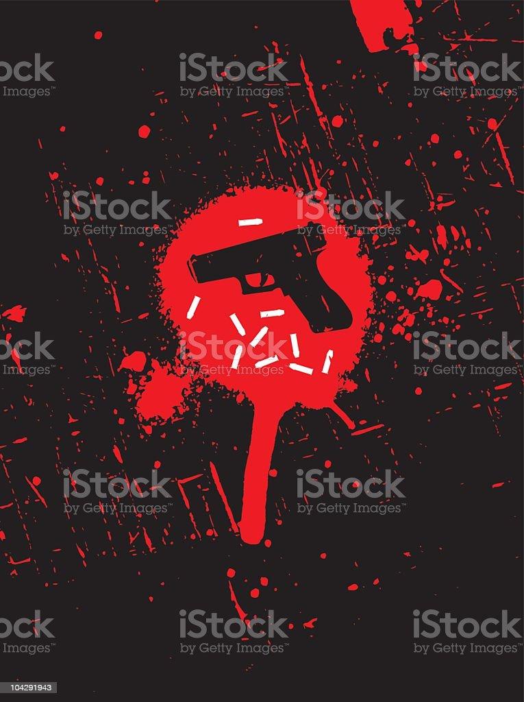 Crime scene royalty-free stock vector art