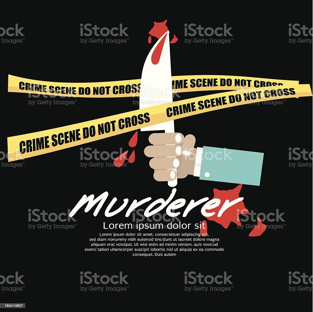 Crime Scene. vector art illustration