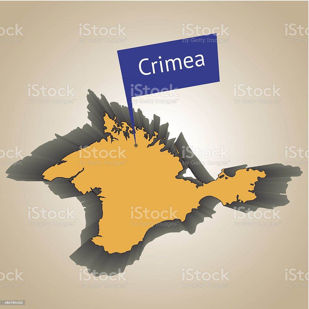 Crimea peninsula royalty-free stock vector art