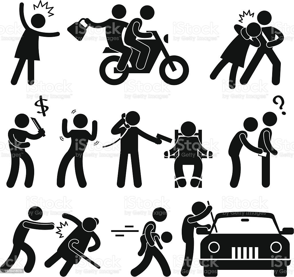 Crimes Pictogram vector art illustration
