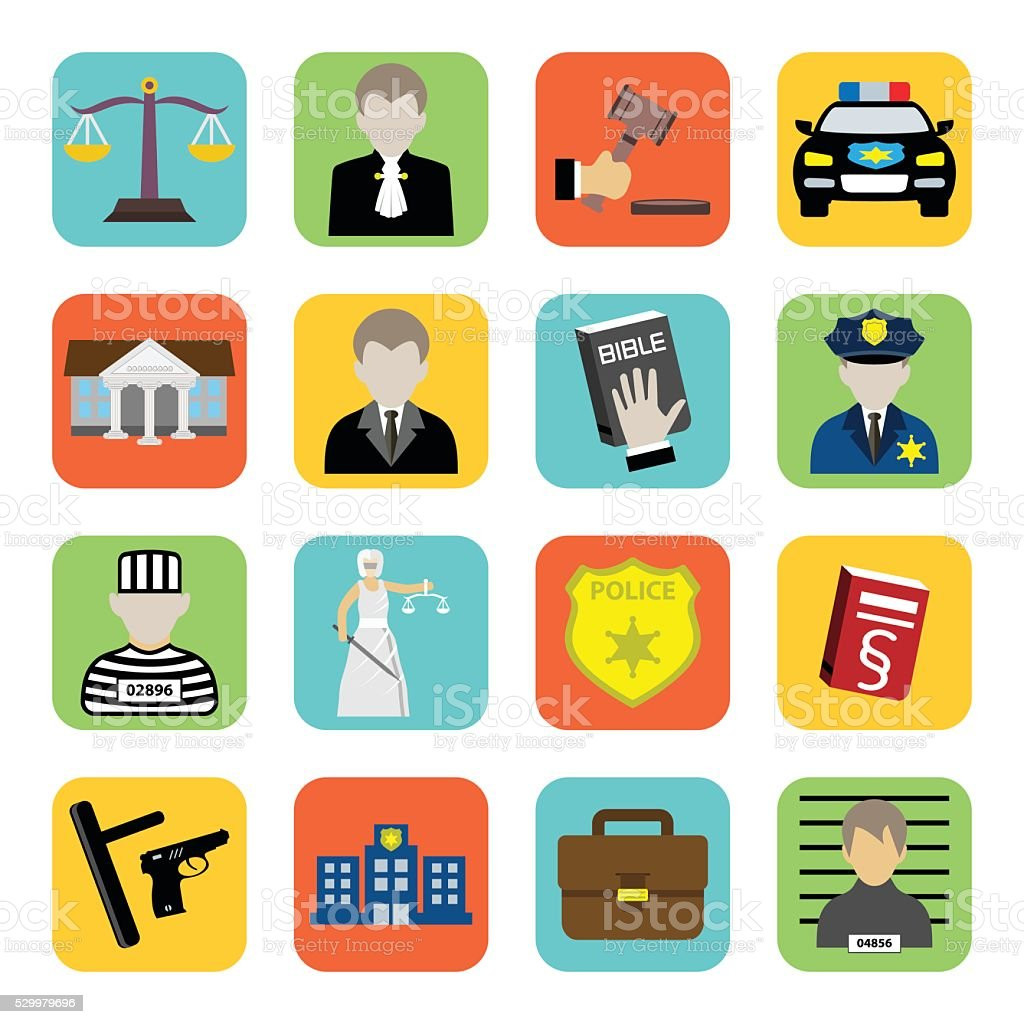 Criminal and prison icon, law, flat style vector art illustration
