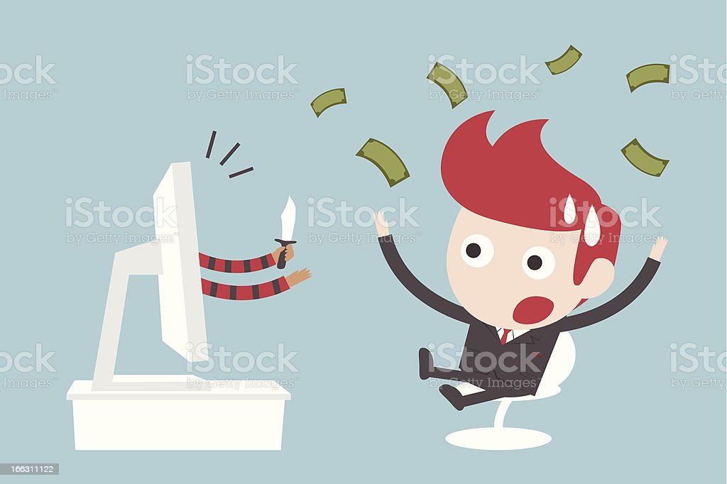 Criminal In Online Business royalty-free stock vector art