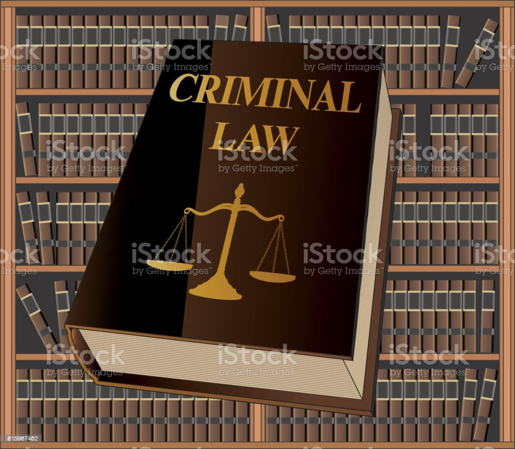 Criminal Law vector art illustration