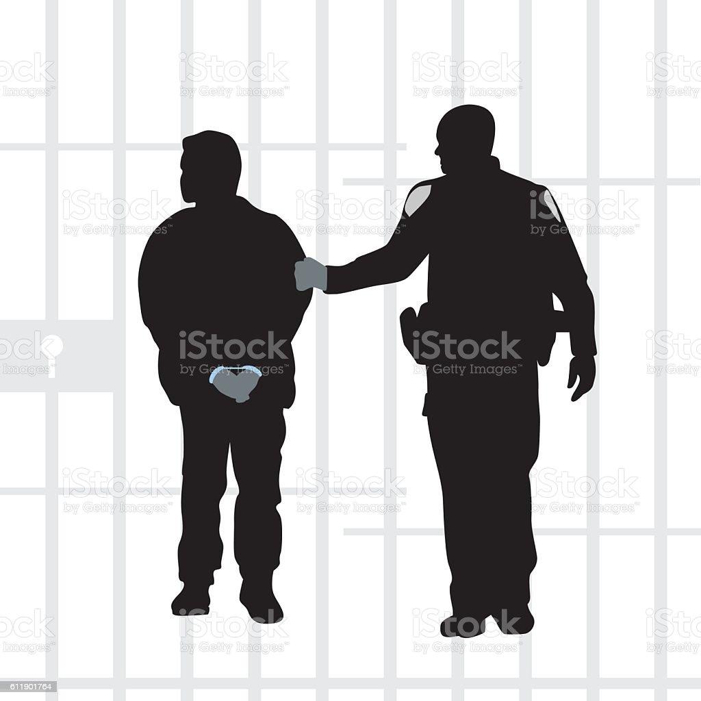 Criminals Do The Time vector art illustration