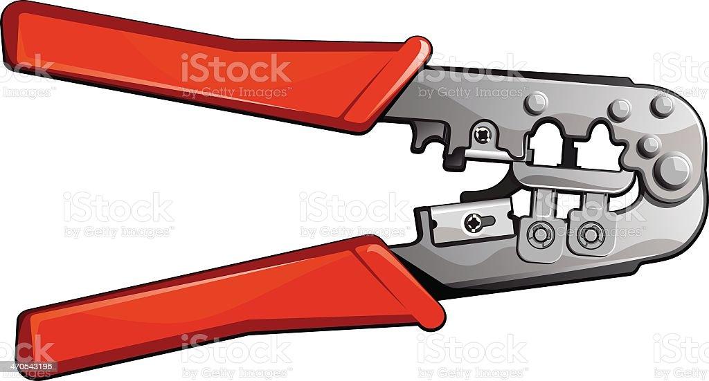 Crimping Tool vector art illustration