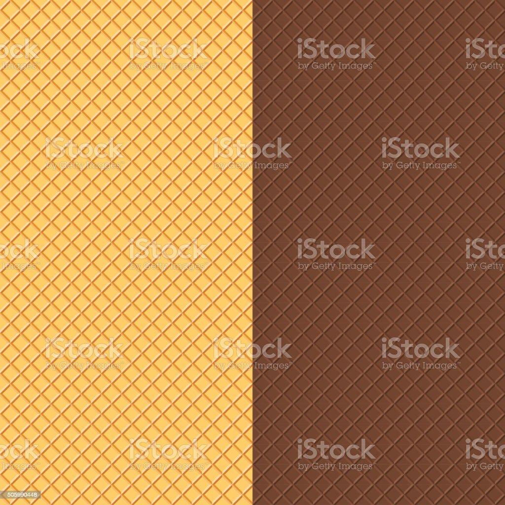 Crispy Wafers Texture vector art illustration