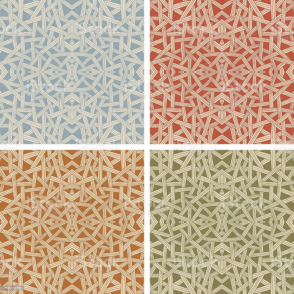 Criss Cross Pattern Set (Seamless) royalty-free stock vector art