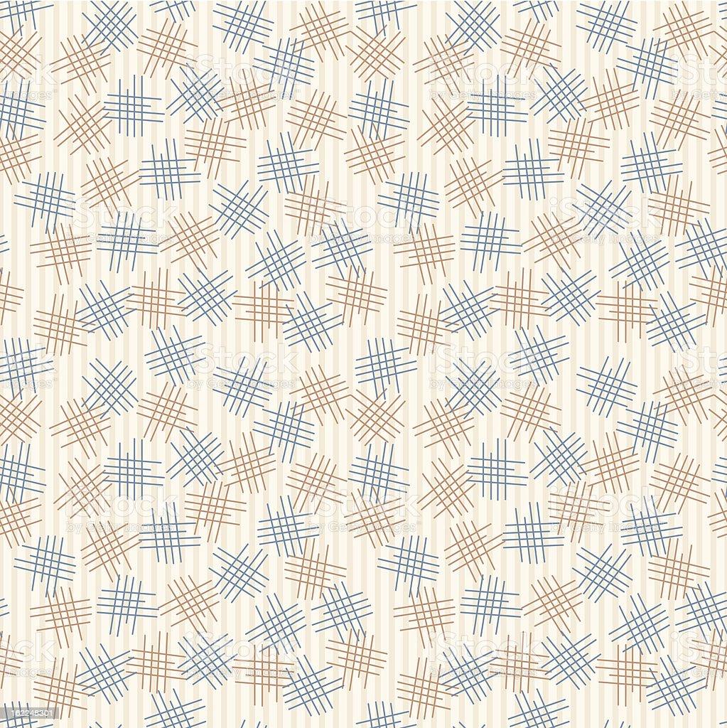 Criss-Cross Seamless Pattern royalty-free stock vector art