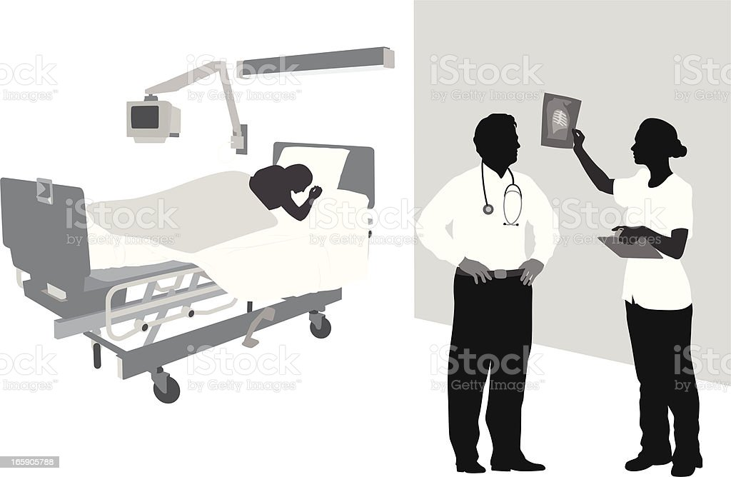 CriticalX-rays vector art illustration