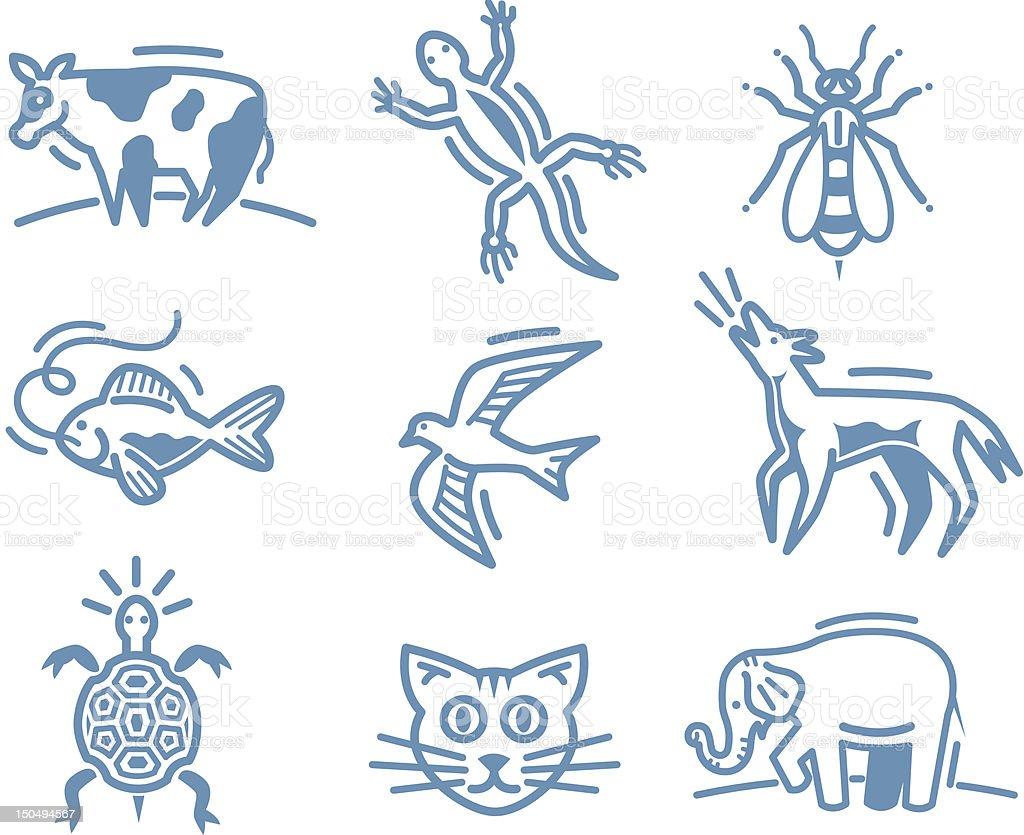 Critters vector art illustration
