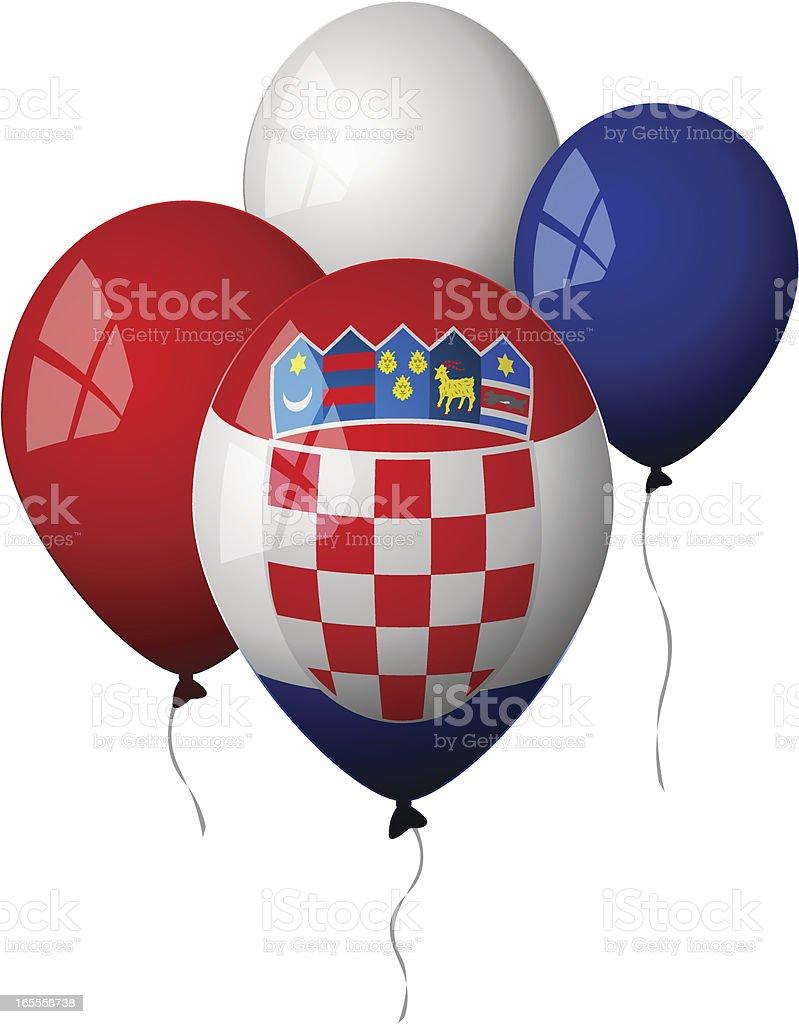 Croatia - Balloons royalty-free stock vector art