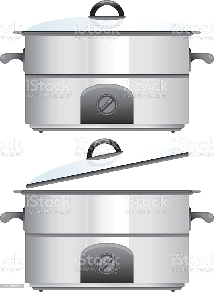 Crock Pot cooking utensil royalty-free stock vector art