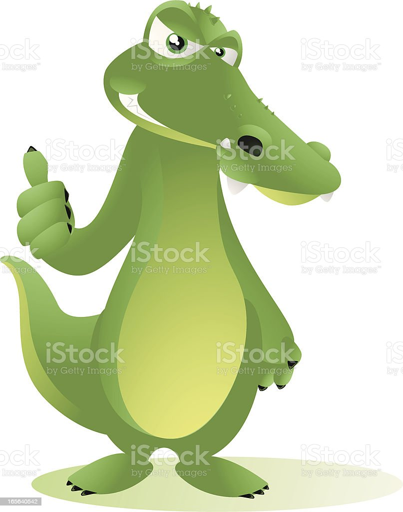 Crocodile Cartoon - Thumbs Up! royalty-free stock vector art