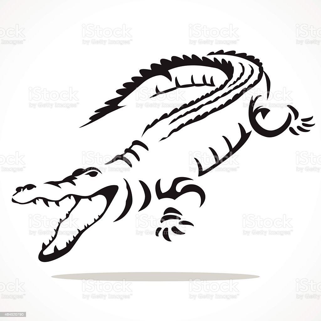 crocodile graphic vector art illustration