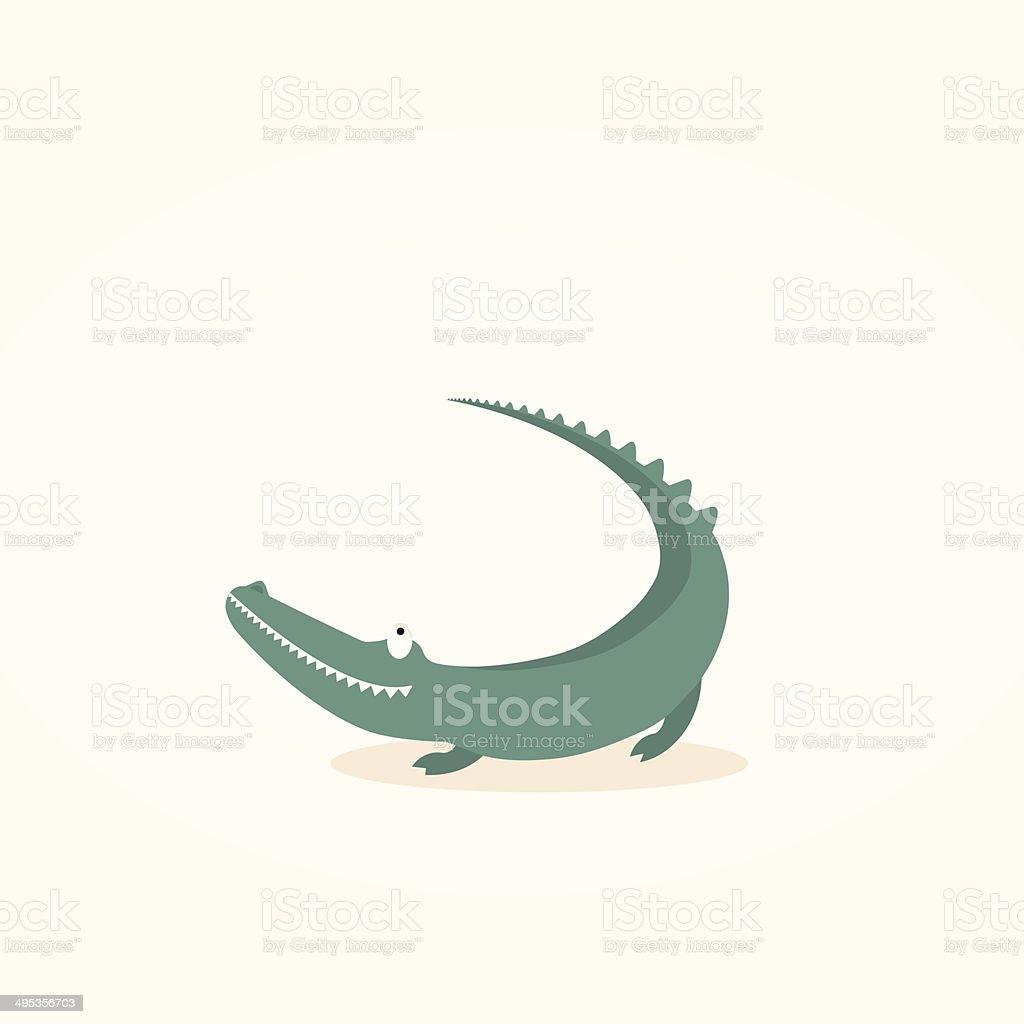 Crocodile illustration vector art illustration