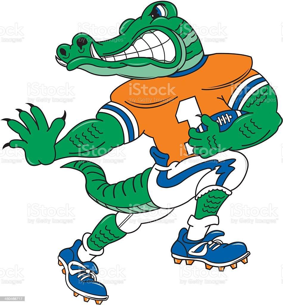 Crocodile Plays Football royalty-free stock vector art