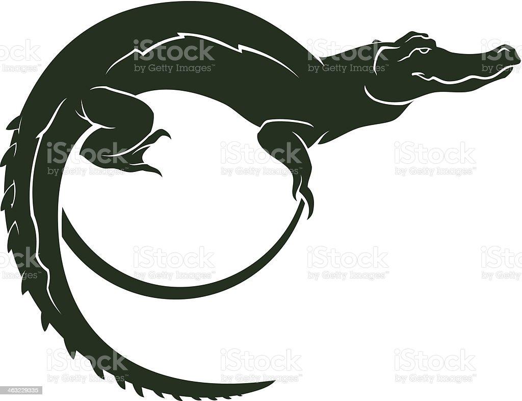 crocodile symbol vector art illustration