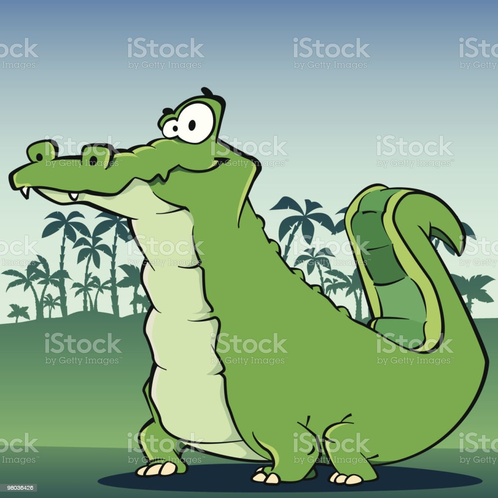 Crocodile royalty-free stock vector art