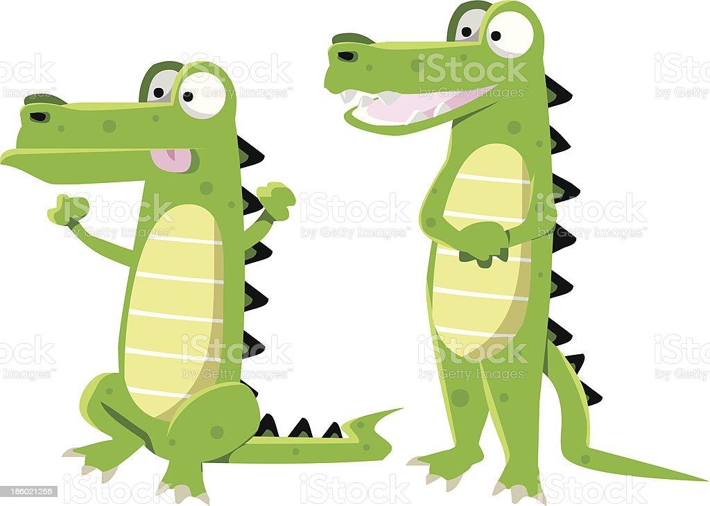 crocodiles cartoon royalty-free stock vector art