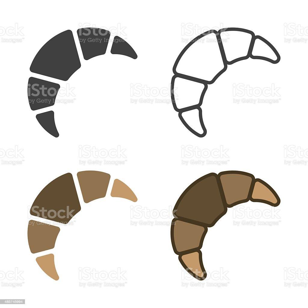 Croissant Icon vector art illustration