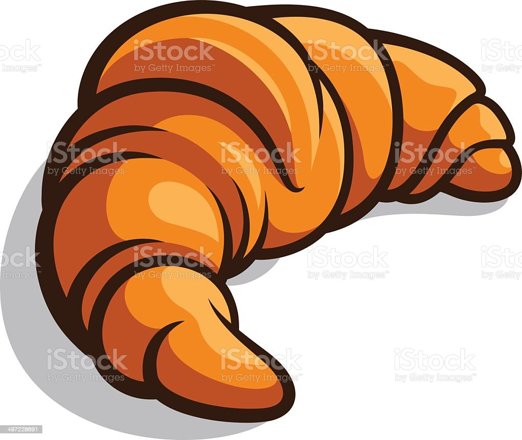 Croissant vector art illustration