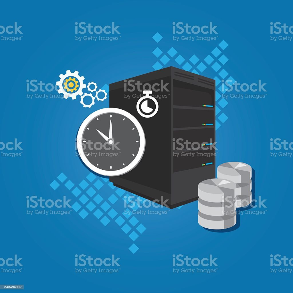 cron job task scheduled automatically running in server in specific vector art illustration
