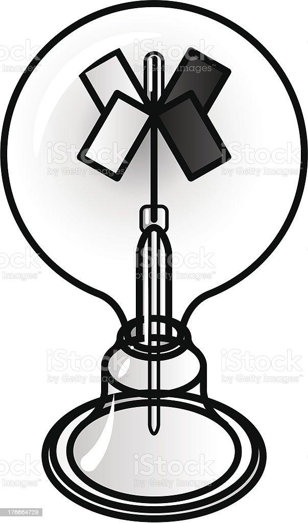 Crookes Radiometer royalty-free stock vector art