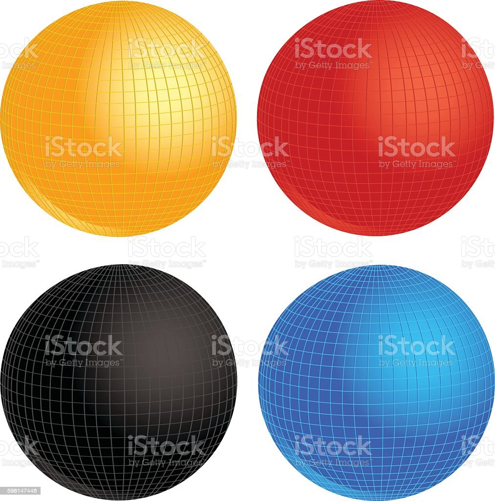 Croquet Balls vector art illustration