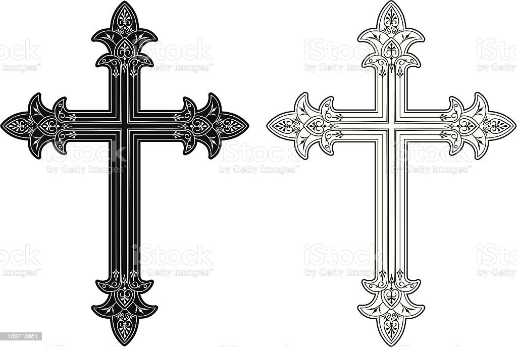 Cross 3 royalty-free stock vector art