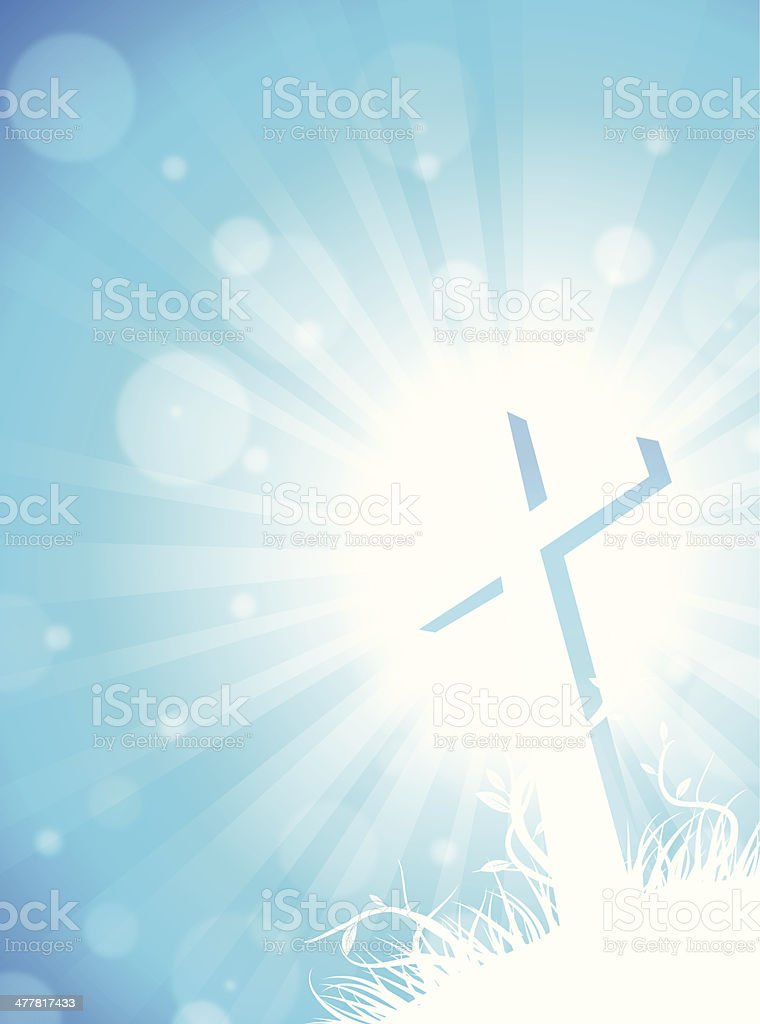 cross blue burst royalty-free stock vector art