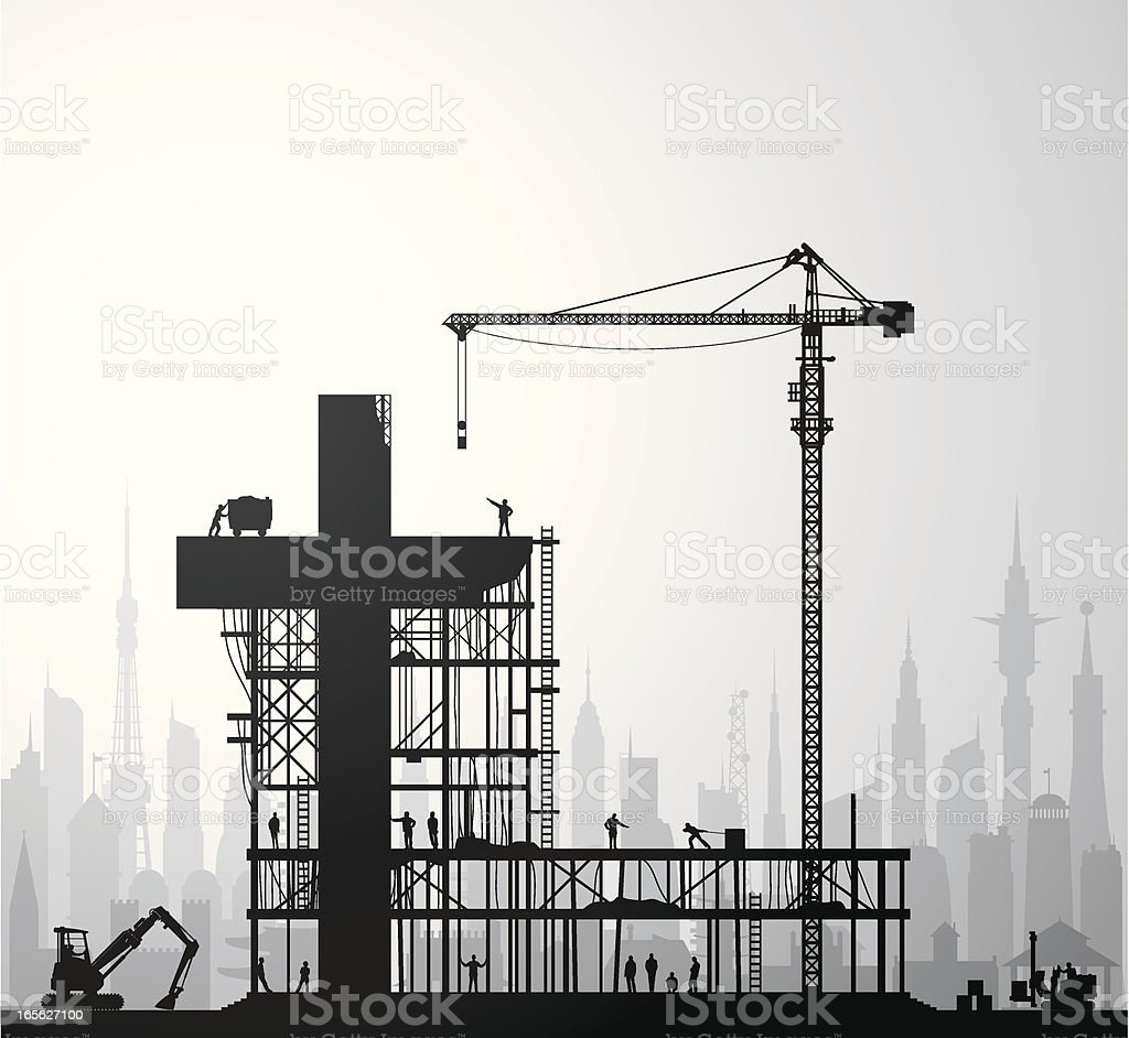 Cross Construction royalty-free stock vector art