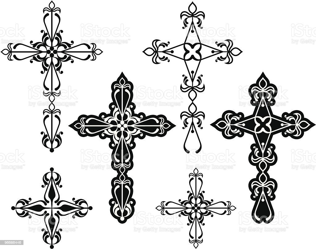 Cross Design Ornamental stock vector art 96686446 | iStock