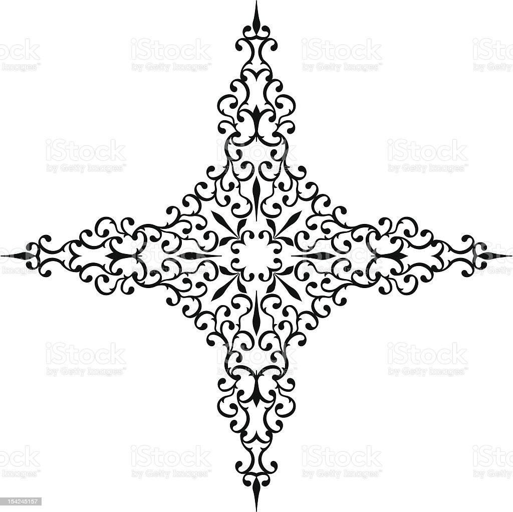 Cross Design vector art illustration