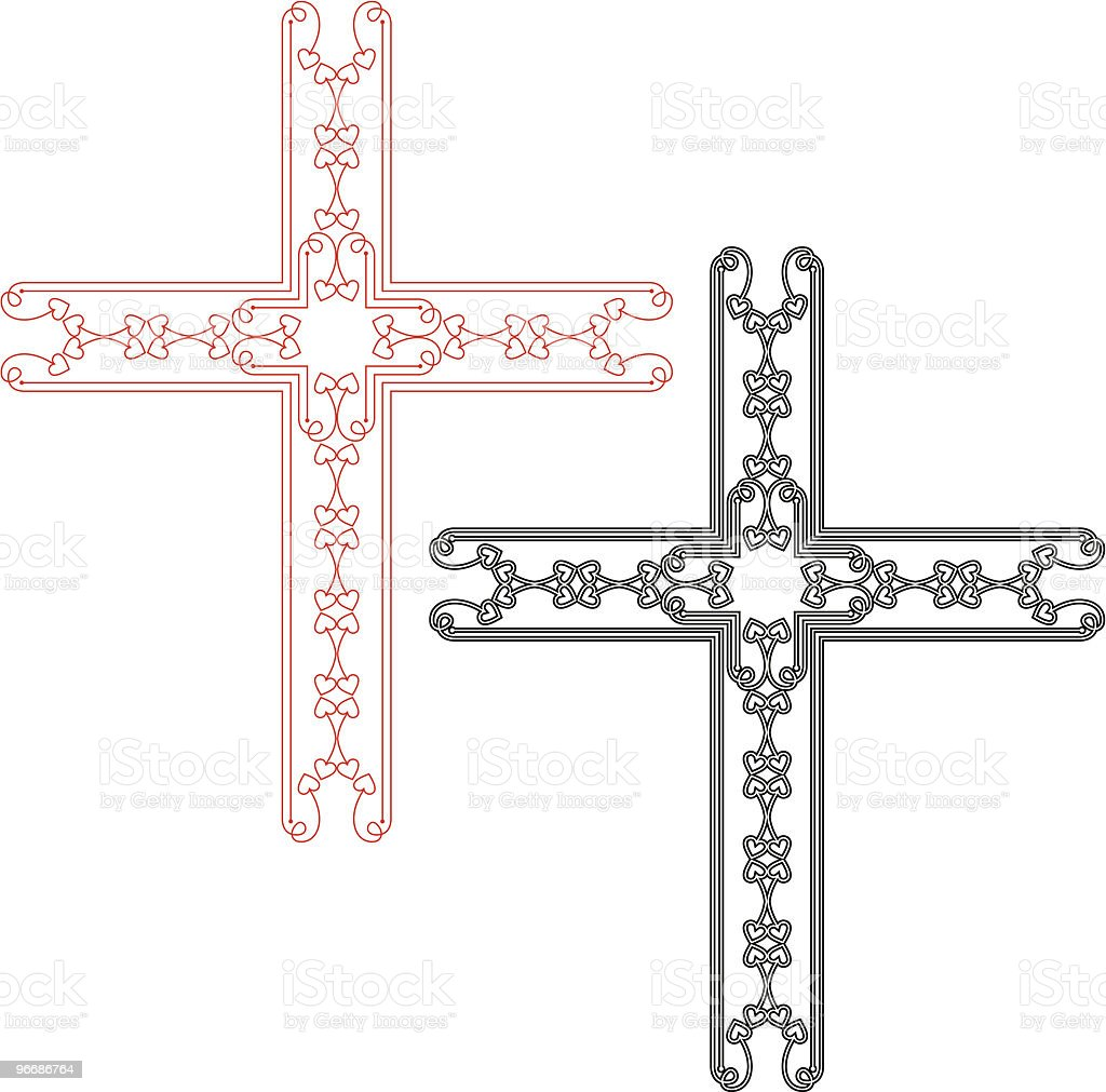 Cross Designs Ornamental vector art illustration