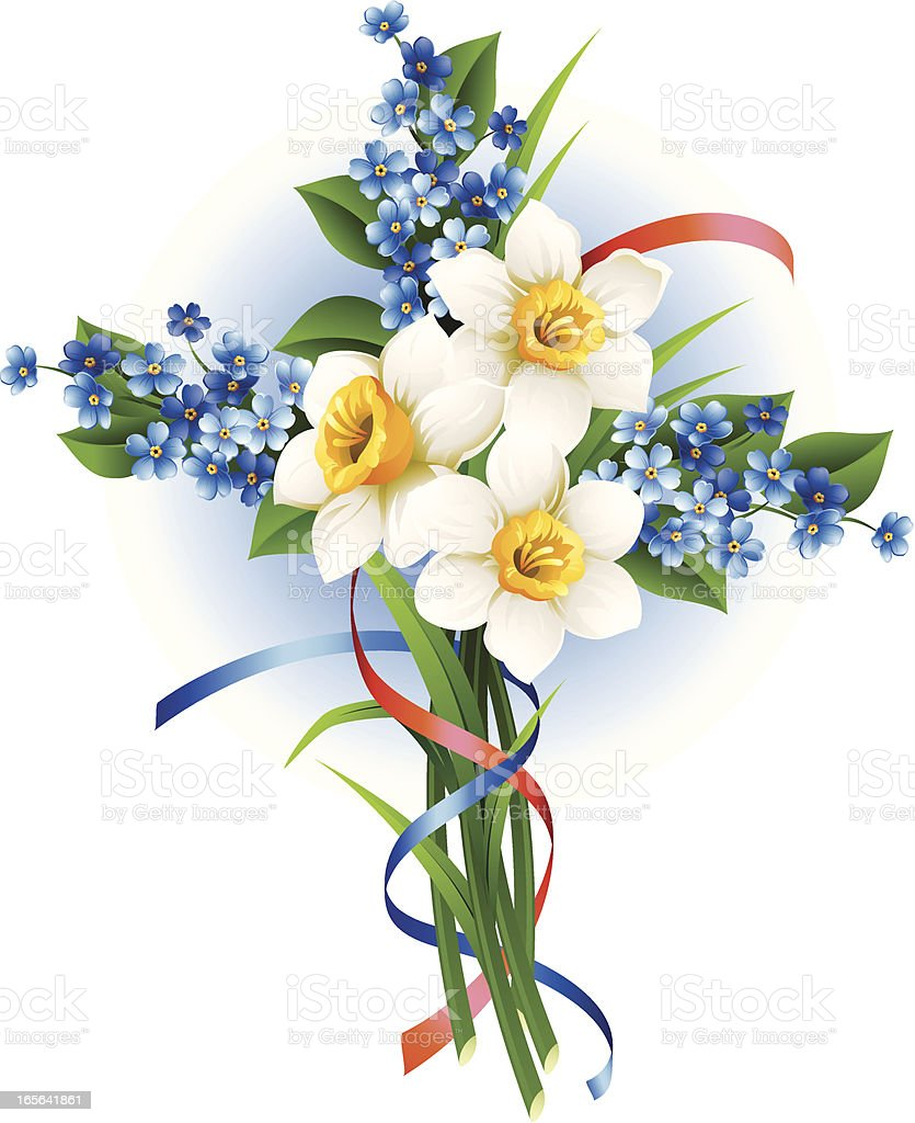 Cross from narcissuses royalty-free stock vector art