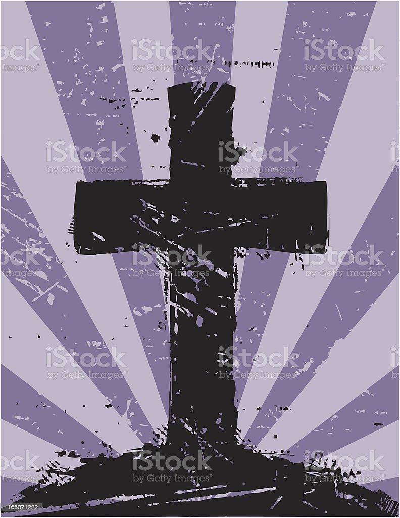 Cross Grunge royalty-free stock vector art