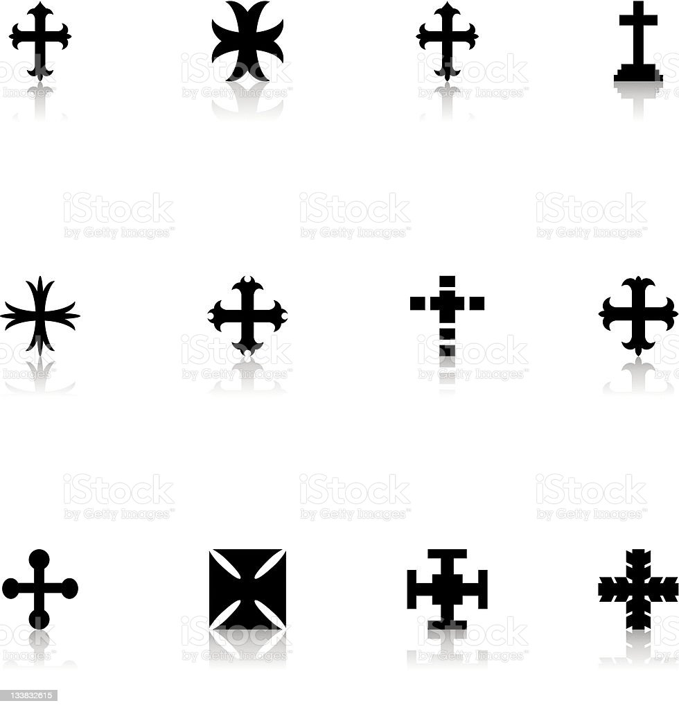 Cross Icon royalty-free stock vector art
