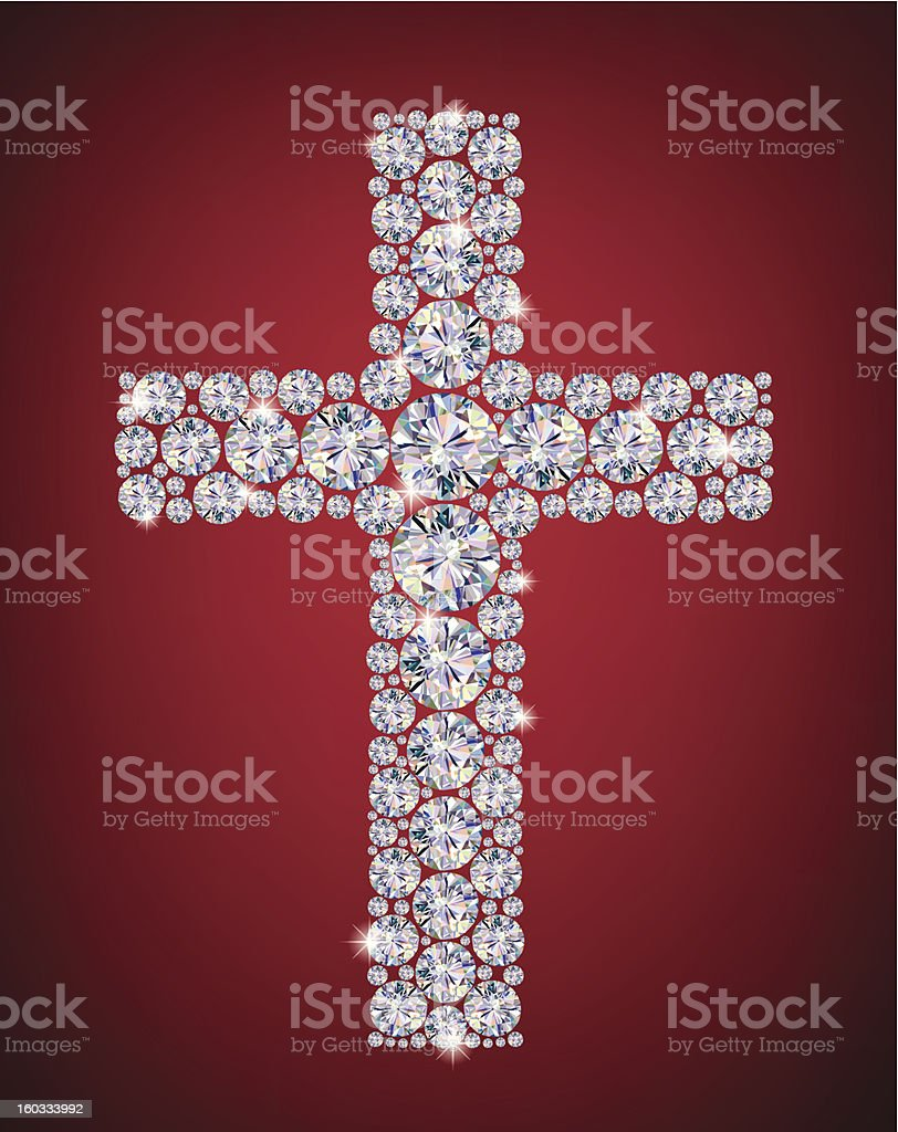 Cross of Diamonds royalty-free stock vector art