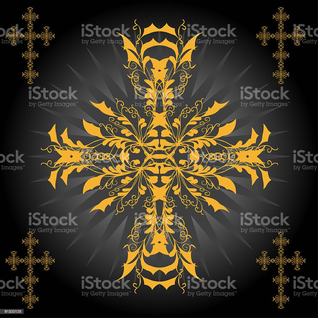 cross of illussions royalty-free stock vector art