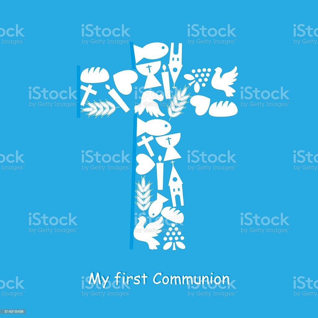 cross religious icons vector art illustration