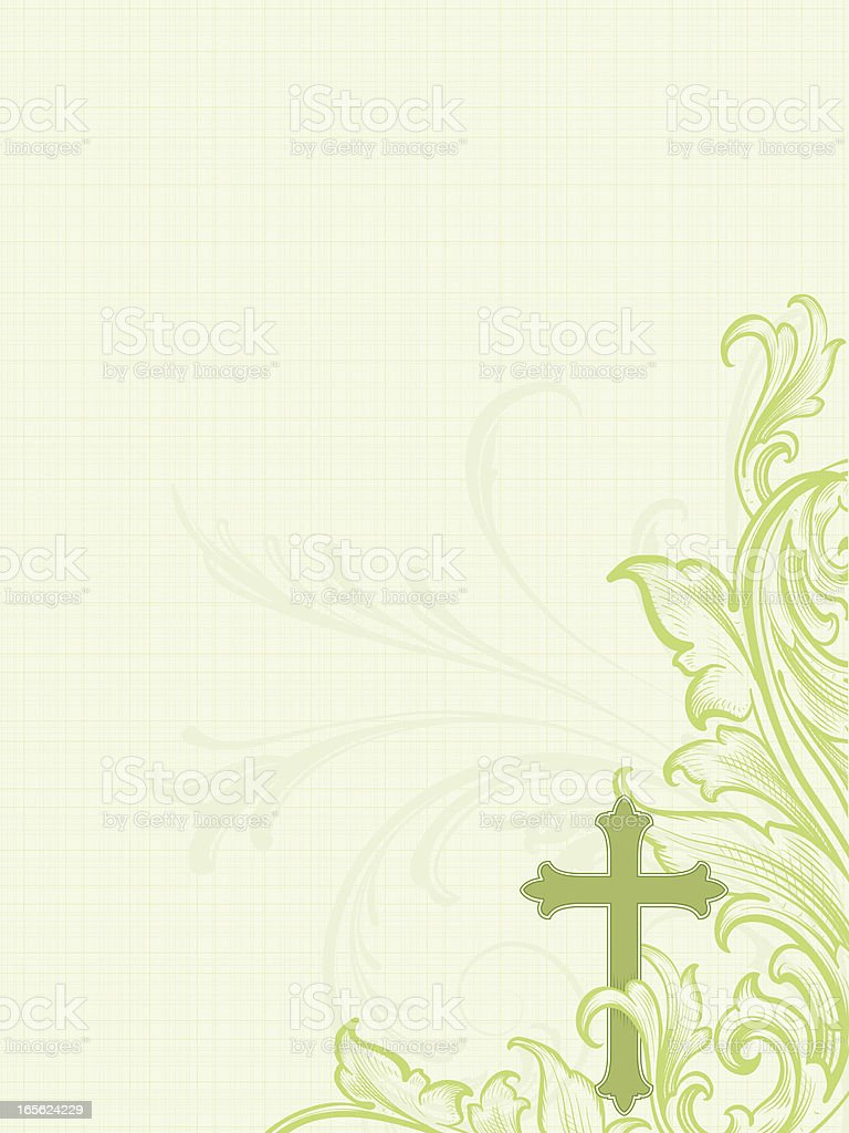 Cross Scroll Linen royalty-free stock vector art