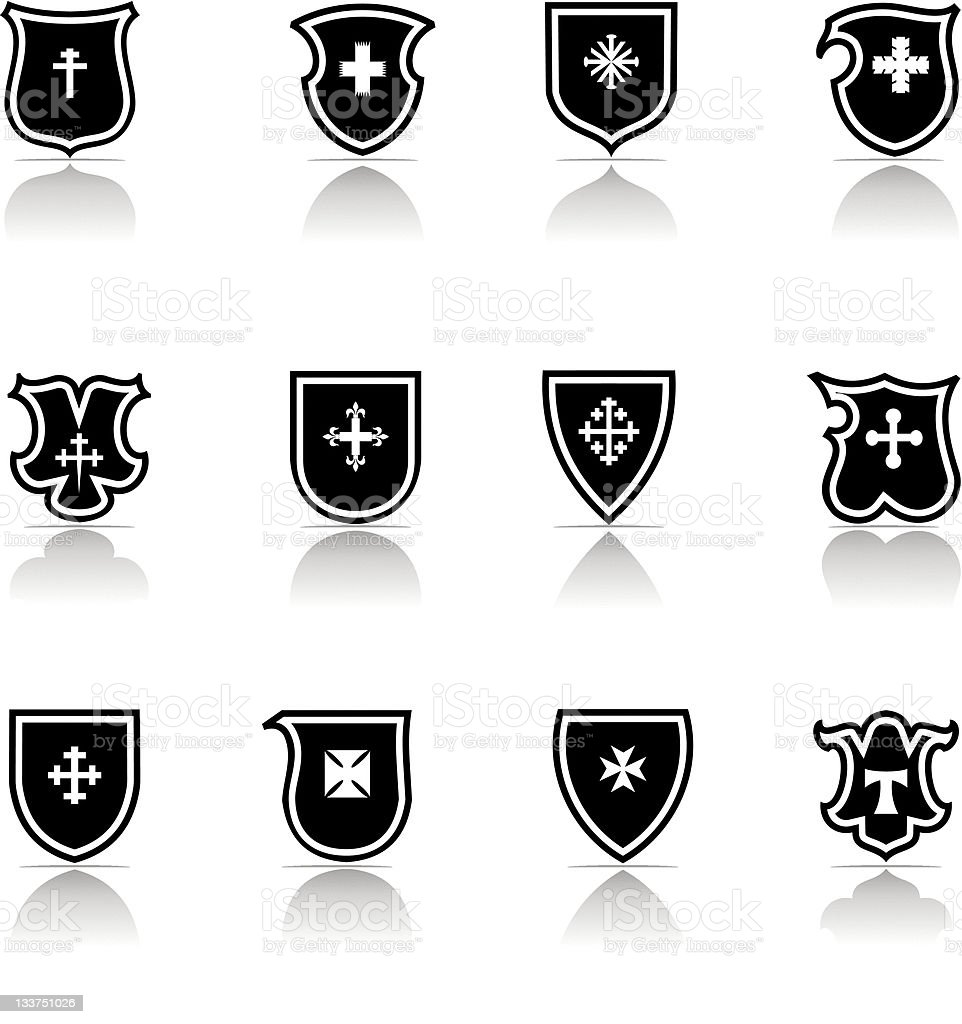 Cross Shield Icon royalty-free stock vector art