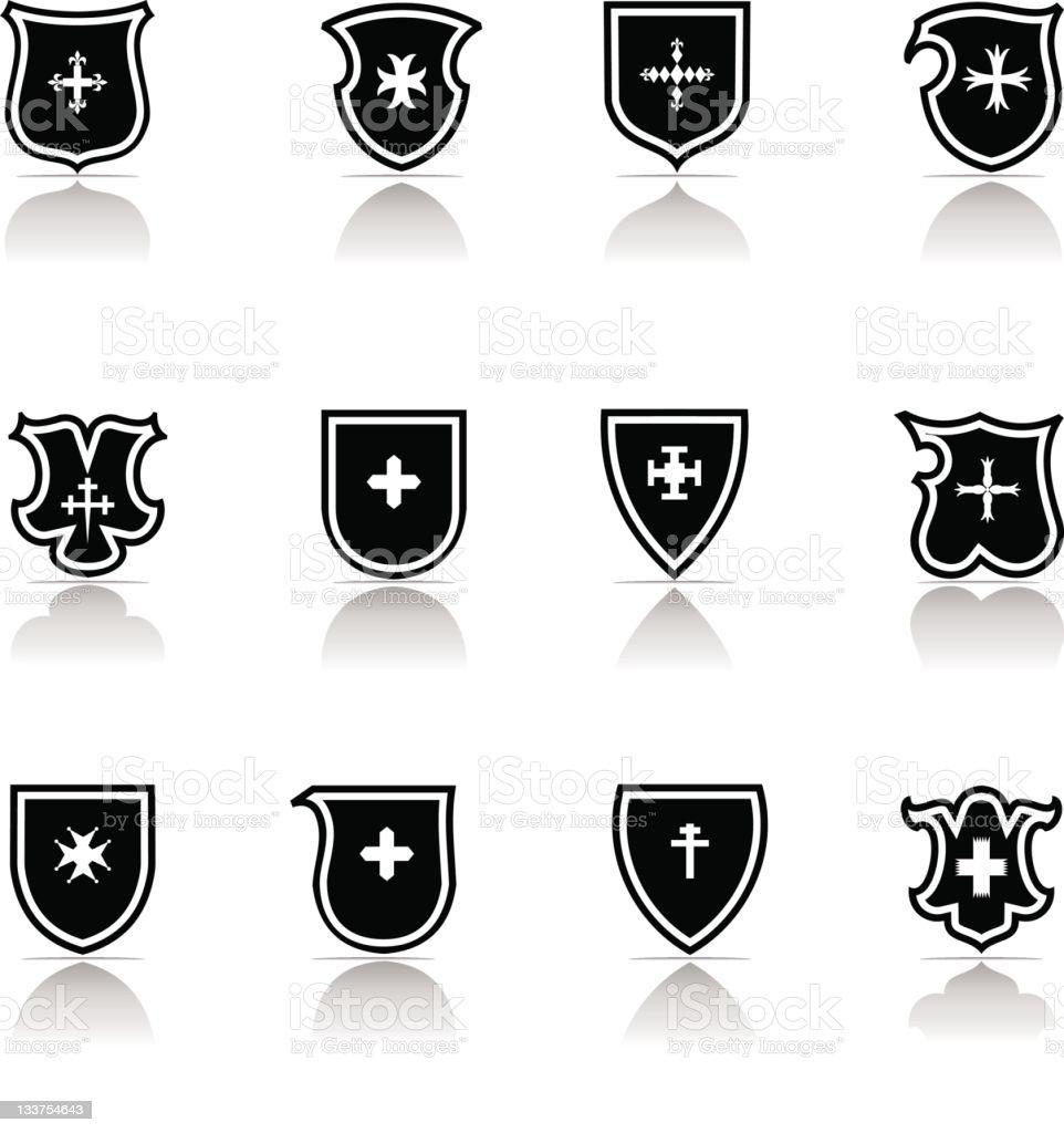 Cross Shield Icon royalty-free stock vector art
