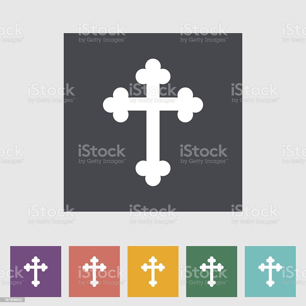 Cross  single flat icon. vector art illustration
