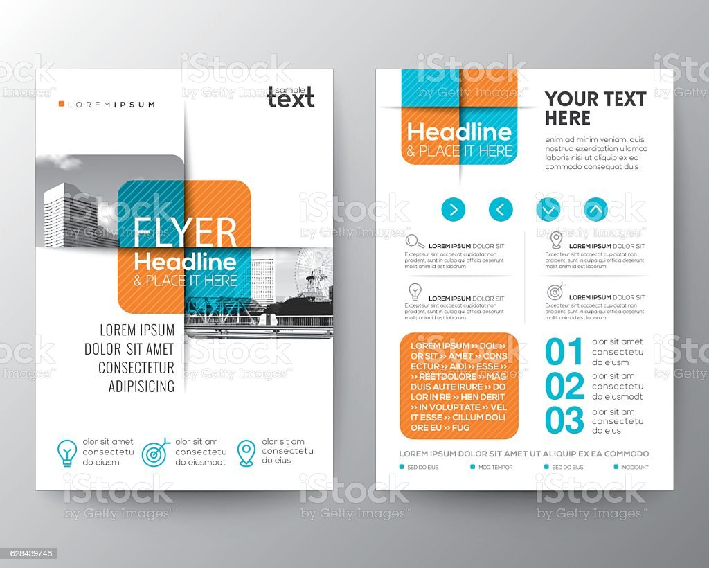 Cross square graphic element Brochure cover Flyer Poster design Layout vector art illustration