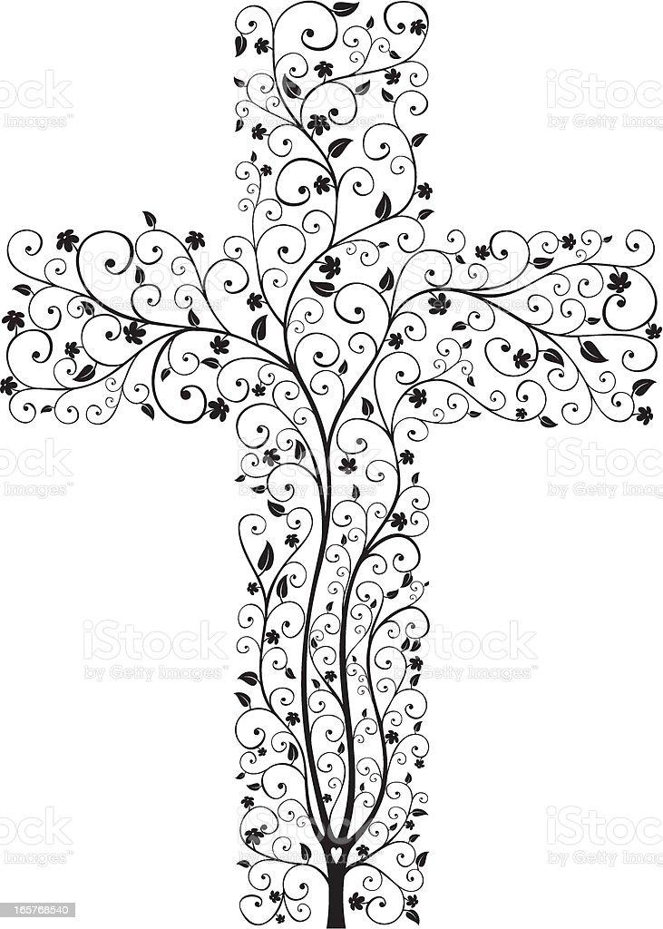 Cross Tree vector art illustration