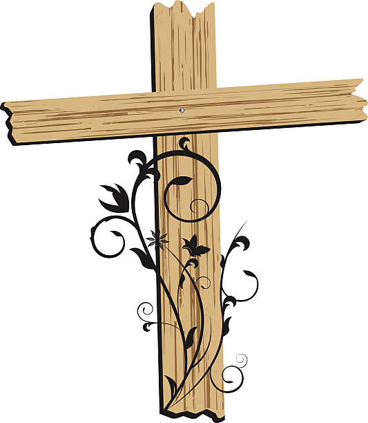 Cross Wooden Clip Art, Vector Images & Illustrations - iStock