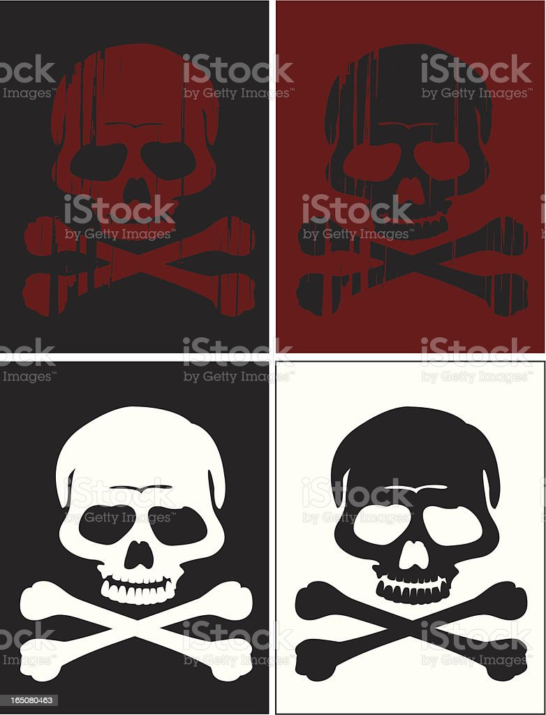 crossbones n' skulls royalty-free stock vector art